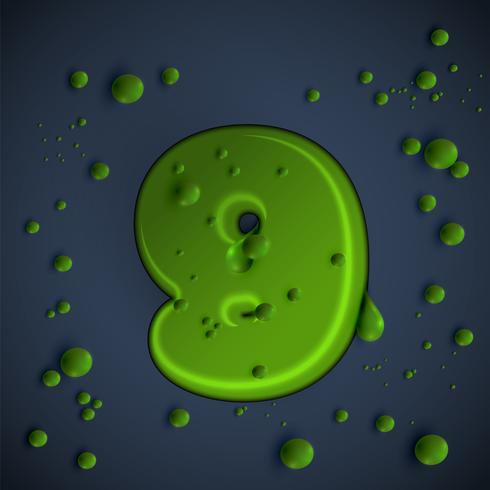 Carattere di melma verde, vettoriale