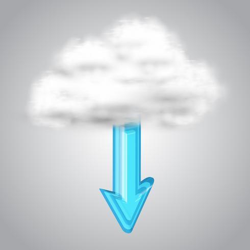 Scarica da cloud, vettore