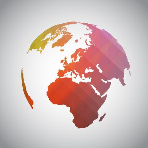 Simbolo del mondo astratto colorato vettore