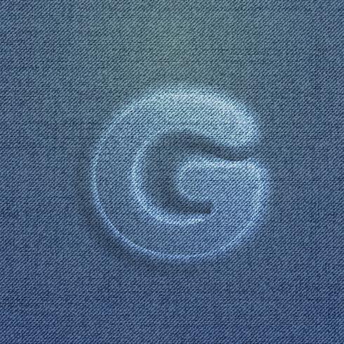 Carattere fatto dal denim, da un carattere tipografico, vettore