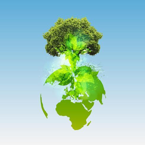 Mondo verde, vettoriale