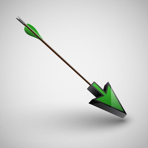 Freccia con punta di freccia, vettoriale