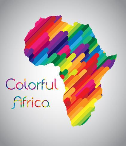Vettore colorato Africa