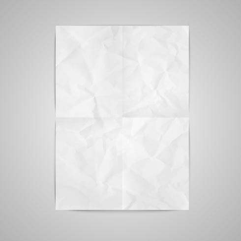 Carta realistico, illustrazione vettoriale
