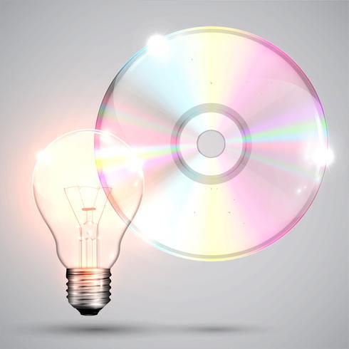 CD / DVD su sfondo bianco, illustrazione vettoriale