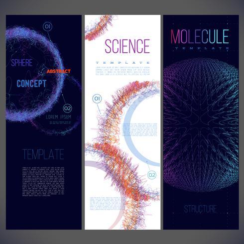 Disegno astratto del modello di scienza vettore
