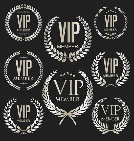 Collezione di etichette VIP vettore
