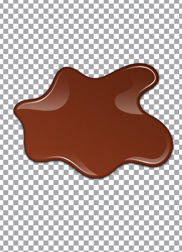 Cioccolato liquido o vernice marrone. Illustrazione vettoriale