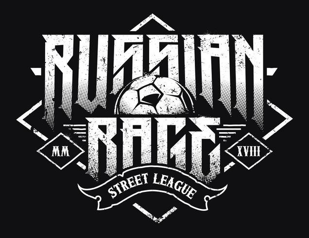 Tipografia Russian Rage vettore