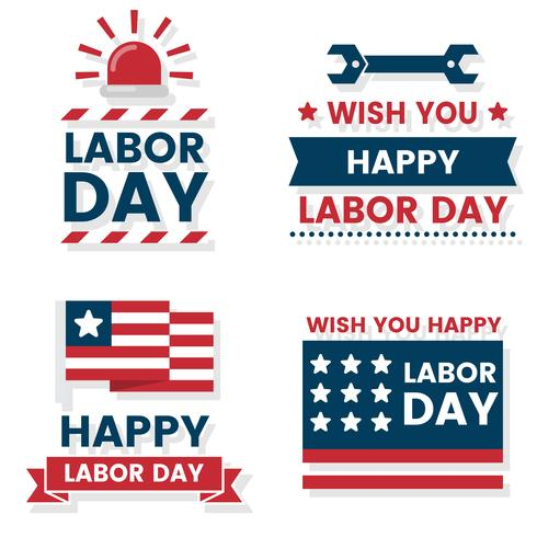 Labor Day Etichetta vettoriale per banner