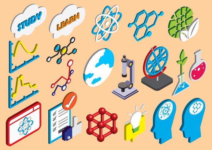 l'illustrazione delle icone di scienza grafica di informazioni ha fissato il concetto vettore