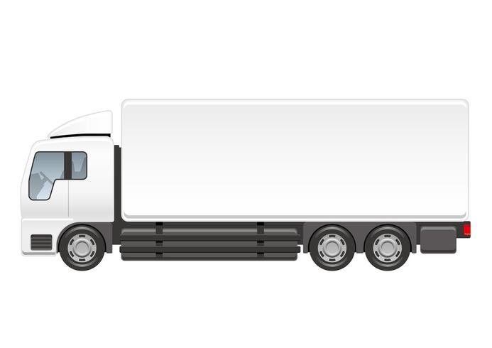 Illustrazione di camion pesante isolato su uno sfondo bianco. vettore