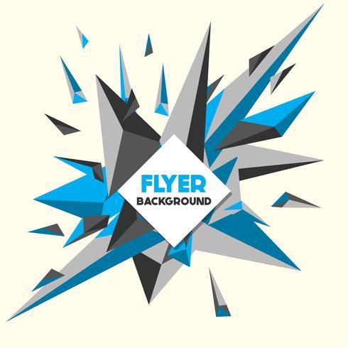 Modello di progettazione di sfondo stile Low Poly Flyer vettore