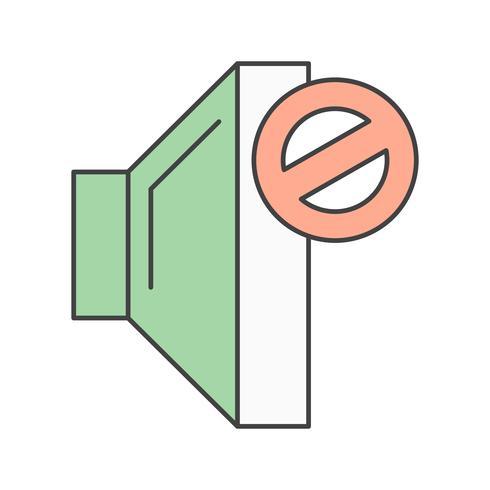 icona muta vettoriale