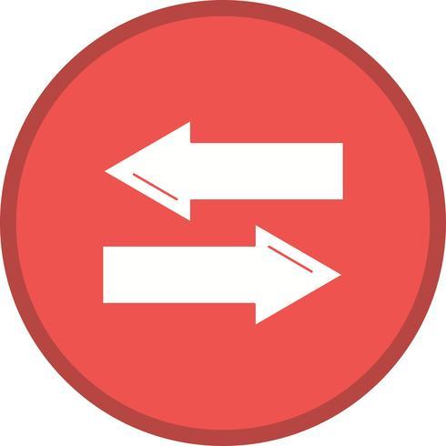 Icona riempita direzione vettore
