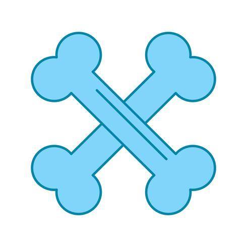 icona di ossa di vettore