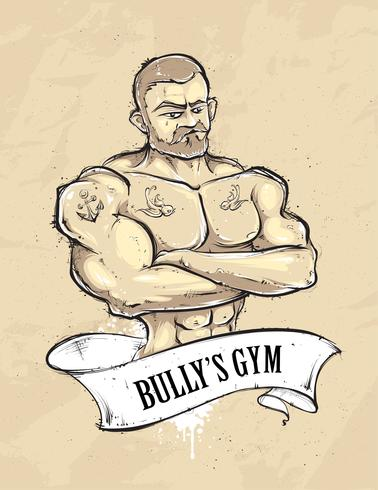 palestra di bullys vettore