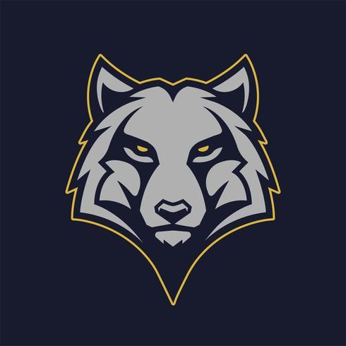icona di vettore della mascotte del lupo