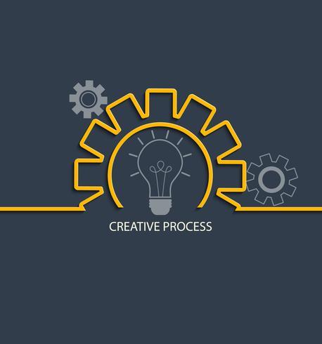 Concetto di processo creativo. vettore