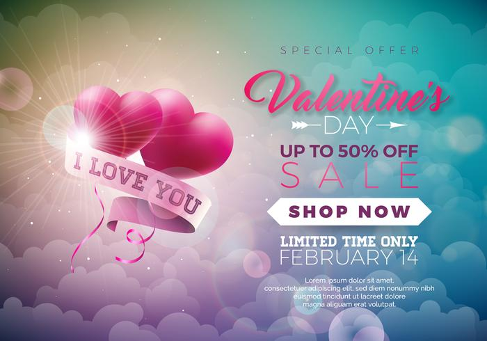 Illustrazione di vendita di San Valentino vettore