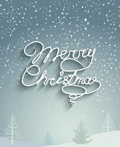 Sfondo di Natale allegro. vettore