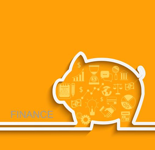 Finanza e concetto di business. vettore