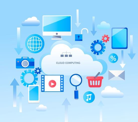 Infografica astratta per servizi di cloud computing vettore