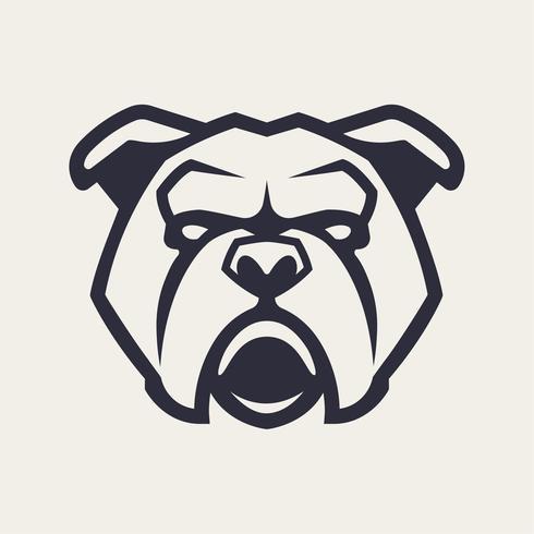 Icona di vettore della mascotte del bulldog
