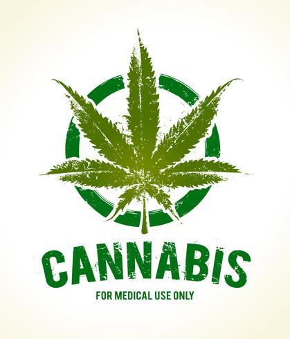 Emblema di cannabis vettore