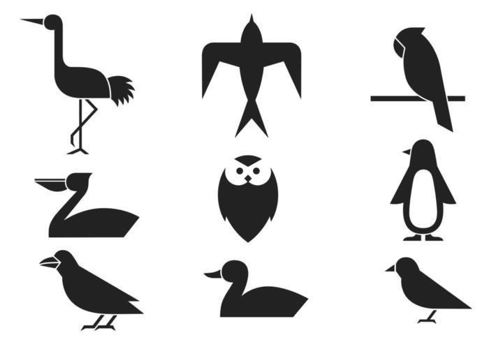 Vettori astratti di uccelli