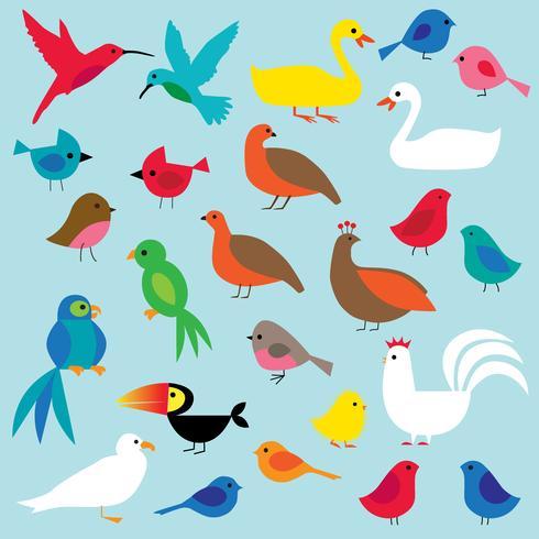 clipart di uccelli vettore
