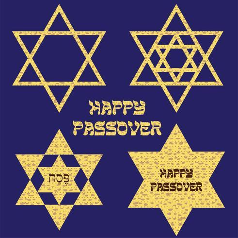 Stelle ebraiche di Pasqua Matzoh vettore