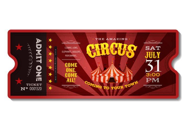 Biglietto del circo d'epoca vettore