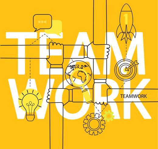 Infografica del concetto di lavoro di squadra. vettore