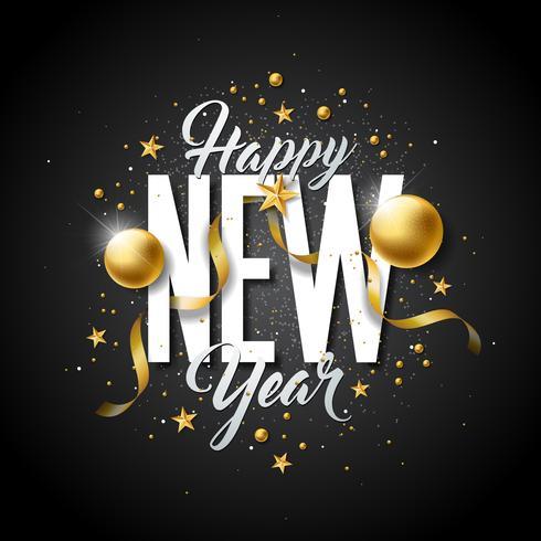 Felice anno nuovo illustrazione vettore