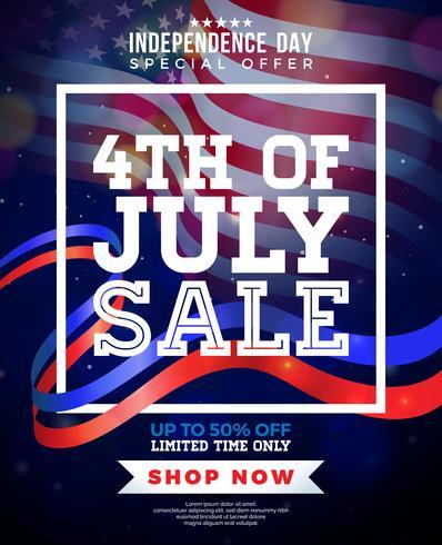 Design di vendita del 4 luglio vettore