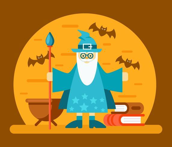 vettore di scuola di mago
