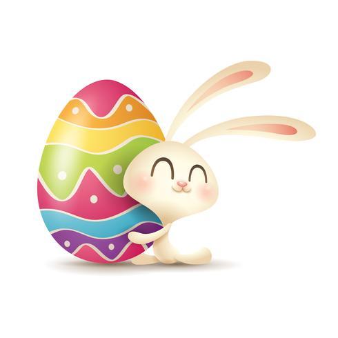 Coniglietto di Pasqua e uova vettore