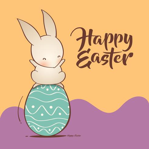 Coniglietto di Pasqua e uova di Pasqua vettore