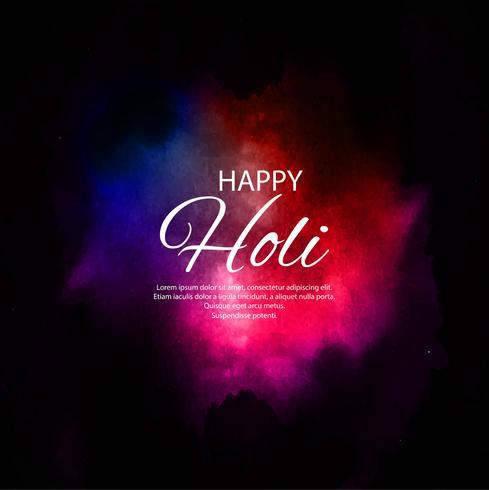Felice Holi Indian festival di primavera di colori di sfondo vettore