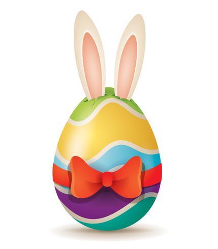 Coniglietto di Pasqua che spunta fuori le orecchie vettore