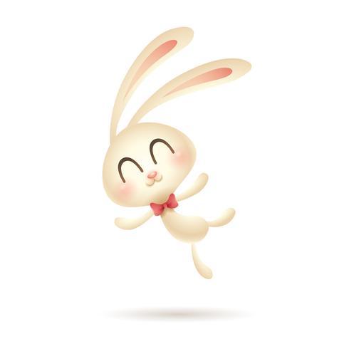 Coniglio di Pasqua saltando vettore