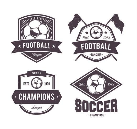 Emblemi di Footballl di vettore