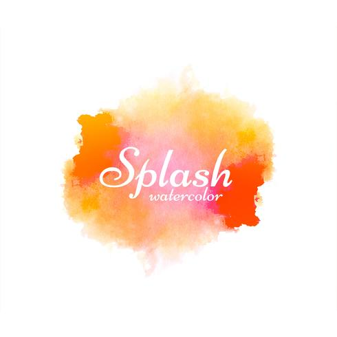 Disegno astratto colorato acquerello splash vettore
