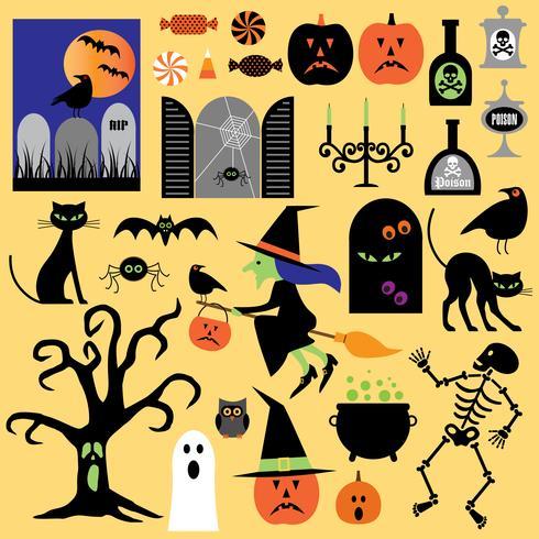 Clipart di Halloween vettore