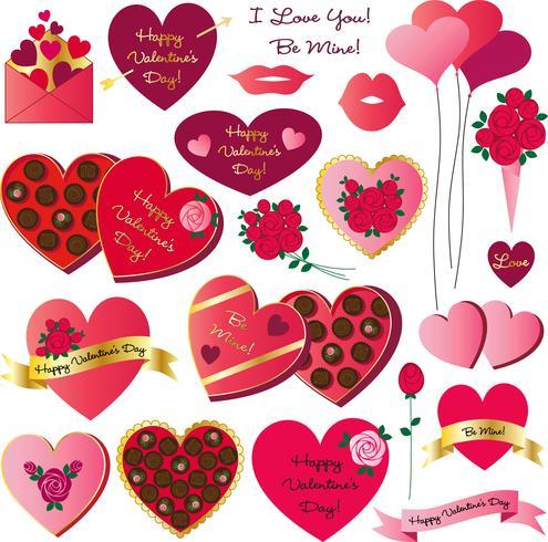 clipart di San Valentino vettore