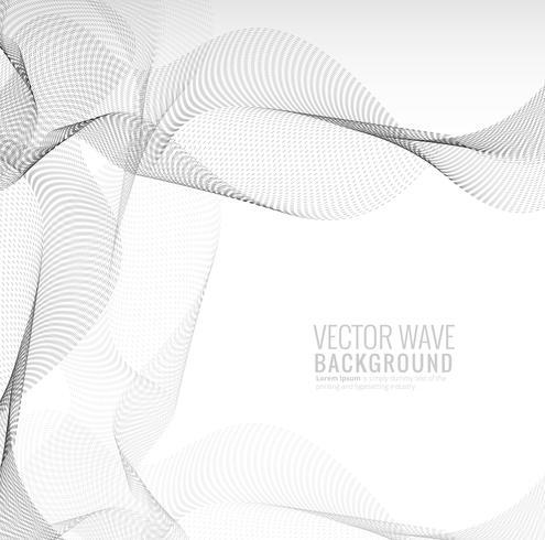 Astratto elegante punteggiato tecnologia onda sfondo vettore