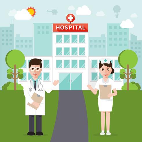 Personaggi medici e ospedalieri vettore