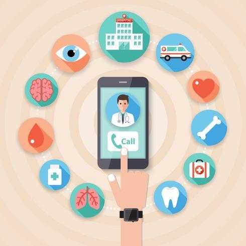 Concetto medico e ospedaliero vettore