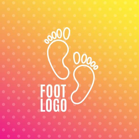Icona del segno impronta umana. Simbolo a piedi nudi. Sagoma del piede vettore